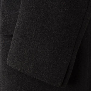 1940 Bespoke Double-Breasted Overcoat Astrakahn Collar - Charcoal