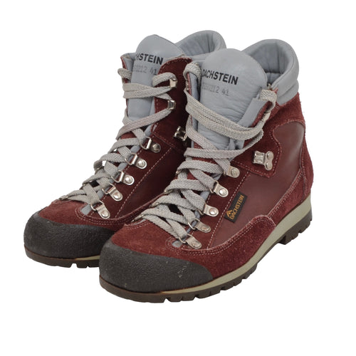 Dachstein Leather & Suede Boots Size 41 - Burgundy