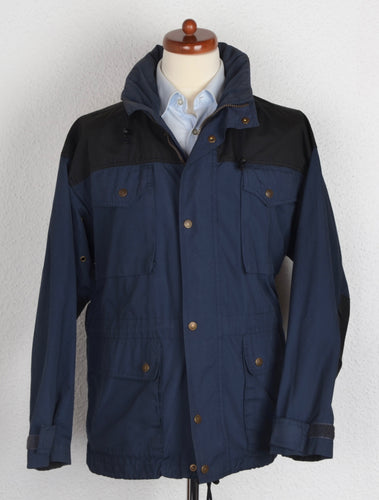 Fjällräven Classic Wear Poly/Cotton Shell Jacket Size S - Blue/Black