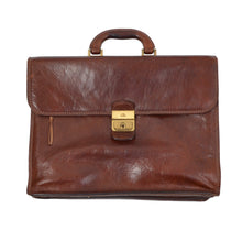Load image into Gallery viewer, The Bridge Firenze Leather Briefcase/Business Bag - Brown 3