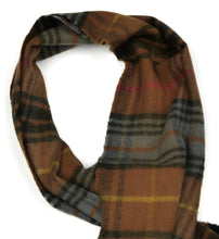 Load image into Gallery viewer, Plaid Wool Scarf by Harrison's of Sctland - Brown