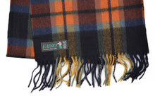 Load image into Gallery viewer, Plaid Wool Scarf by F. Uno - Navy & Orange