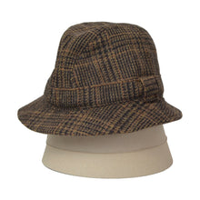 Load image into Gallery viewer, Lock & Co. London Tweed Bucket Hat Size 58 - Plaid