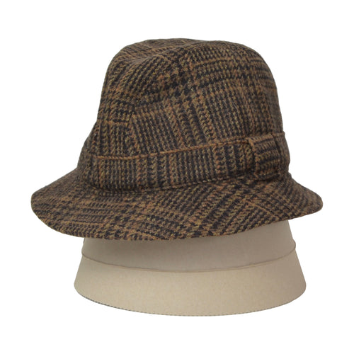Lock & Co. London Tweed Bucket Hat Size 58 - Plaid