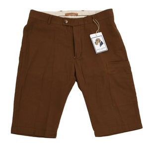 Private White VC Tropical Weave Shorts Size W32 - Tobacco Brown
