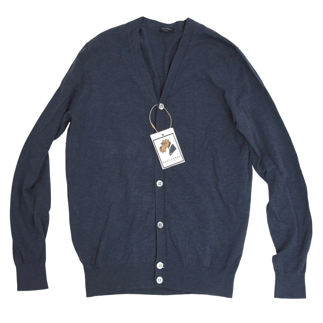 Suitsupply Cotton Cardigan Sweater Size M - Blue