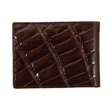Load image into Gallery viewer, Crocodile Wallet/Billfold - Burgundy-Brown