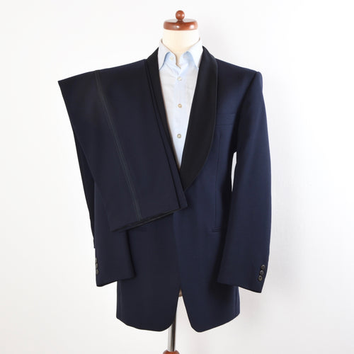 Vintage Shawl Lapel Tuxedo by Bierkopf Graz - Navy Blue