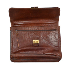 The Bridge Firenze Leather Briefcase/Business Bag - Brown 3