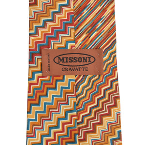Missoni Silk Tie - Zig Zag/Stripes