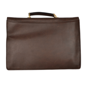 Rodeo by Mädler Oiled Leather Briefcase - Brown
