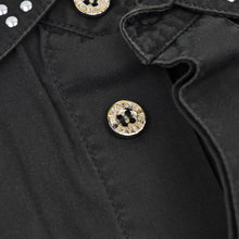 Load image into Gallery viewer, Versace Jeans Couture Western Studded Shirt Size M - Black