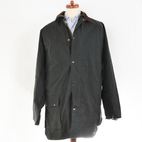 Sherwood Waxed Jacket Size XXXXXL - Green