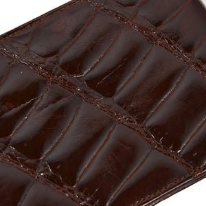 Crocodile Wallet/Billfold - Burgundy-Brown