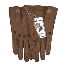 Load image into Gallery viewer, Classic Unlined Leather Driving Gloves - Brown