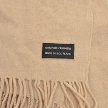 Load image into Gallery viewer, Scottish Cashmere Scarf - Beige
