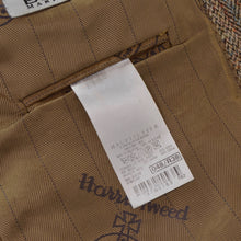 Load image into Gallery viewer, Harris Tweed/Barutti Wool Jacket Size 48/38R - Tan Windowpane