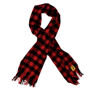 Buffalo Plaid Wool Scarf by Kynloch - Black & Red