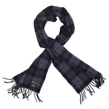 Load image into Gallery viewer, DAKS London Wool Scarf - Navy Plaid