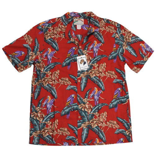 Paradise Found Magnum PI/Tom Selleck Hawaiian Shirt Size XL - Red