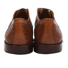 Load image into Gallery viewer, Ludwig Reiter Woven Leather Derby Shoes Size 9 - Brown