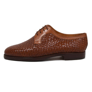 Ludwig Reiter Woven Leather Derby Shoes Size 9 - Brown