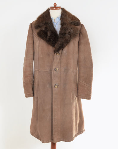 Shearling Coat With Fur Collar