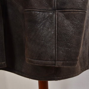 Original Shearling Coat Size 54 - Brown