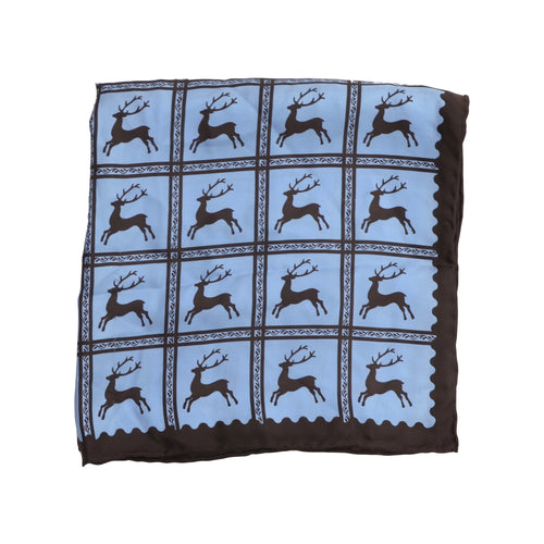 Striessnig Traditional Silk Pocket Square - Deer Print