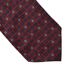 Load image into Gallery viewer, Silk Ascot/Cravatte Tie - Burgundy Floral