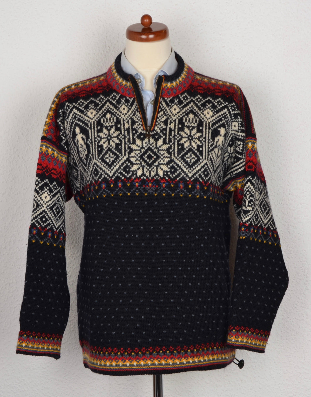 Dale of Norway Knit Sweater - Black, Red, White