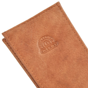 Giudi Leather Keychain/Wallet Case - Cognac