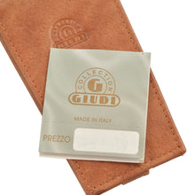 Load image into Gallery viewer, Giudi Leather Keychain/Wallet Case - Cognac