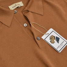 Load image into Gallery viewer, Ermenegildo Zegna Wool/Cashmere/Silk Polo Sweater Size M/50 - Tan/Brown