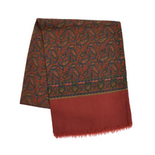 Load image into Gallery viewer, Paisley Wool Dress Scarf - Red Paisley