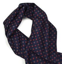 Load image into Gallery viewer, Wool & Silk Dress Scarf - Navy & Red