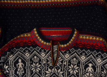 Load image into Gallery viewer, Dale of Norway Knit Sweater - Black, Red, White
