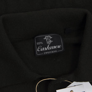 100% Cashmere Polo Sweater Size M - Green