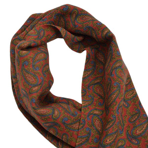Paisley Wool Dress Scarf - Red Paisley