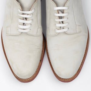 Cheaney of England Classic White Bucks Shoes Size 8.5F - White