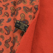 Load image into Gallery viewer, Carnaval de Venise Double-Sided Silk Wool Scarf - Orange Paisley