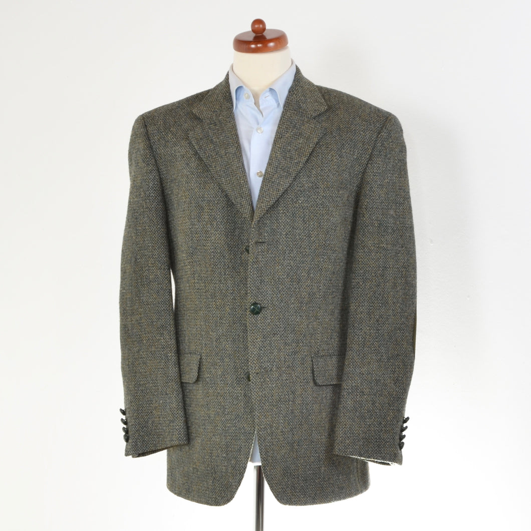 Cyrillus Harris Tweed Jacket Size 50 - Green