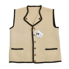 Load image into Gallery viewer, Classic Wool Sweater Vest/Trachtenweste - Cream