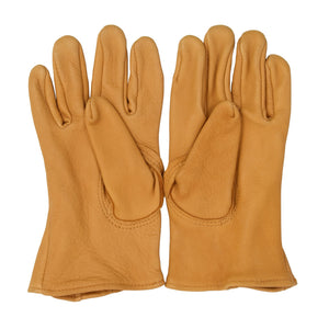 NEW Deerskin Leather Gloves Lined Size M - Golden Tan