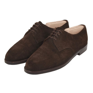 Ludwig Reiter Suede Derby Shoes Size 9 - Chocolate Brown
