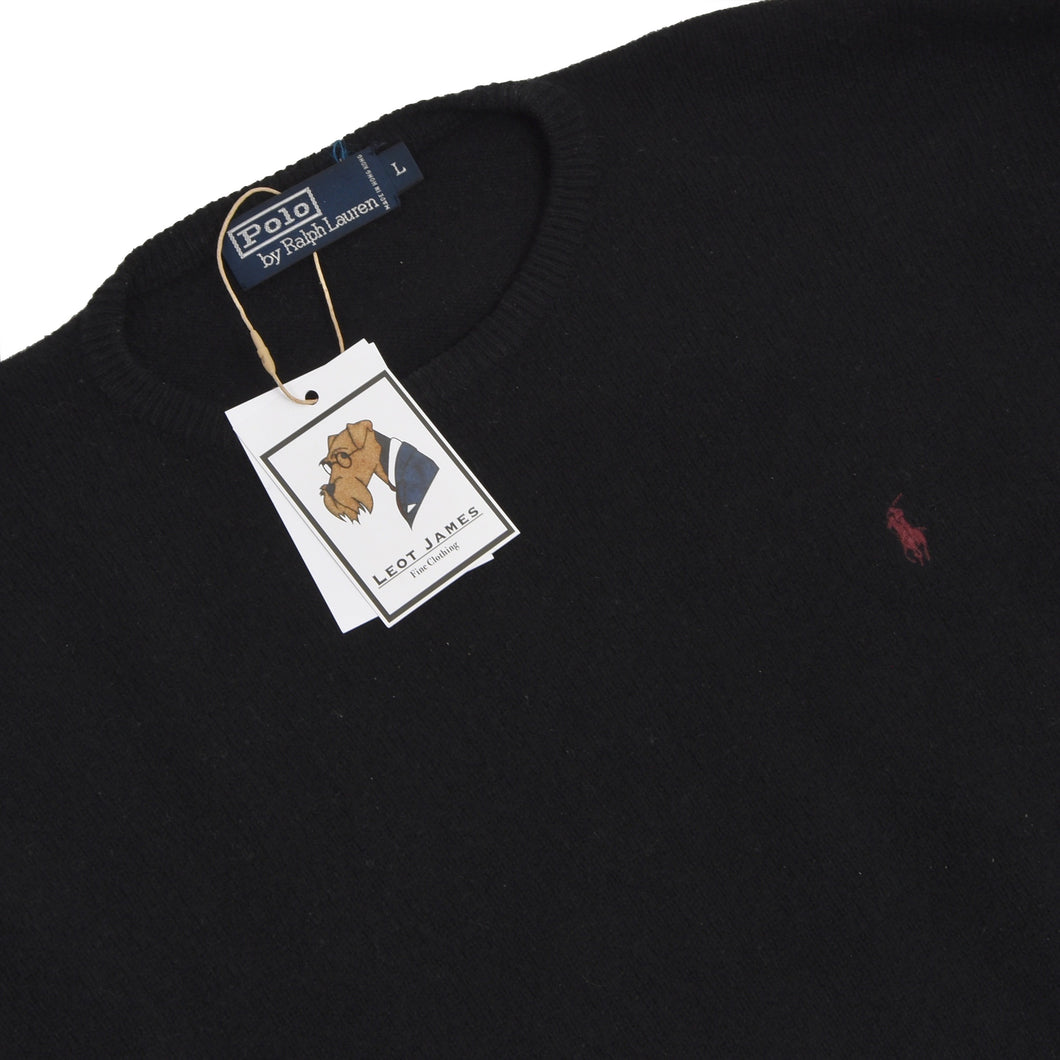 Polo Ralph Lauren Lambswool Sweater Size L - Black