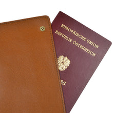 Load image into Gallery viewer, F. Schulz Wien Leather Passport Case/Wallet - Tan