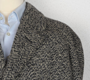 Handmade Tweed Overcoat by Samek Wien - Black, White, Grey