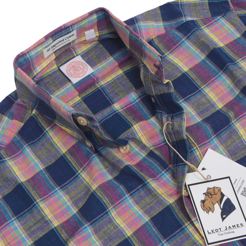 J. Press Madras Cotton Shirt Size Size S - Plaid
