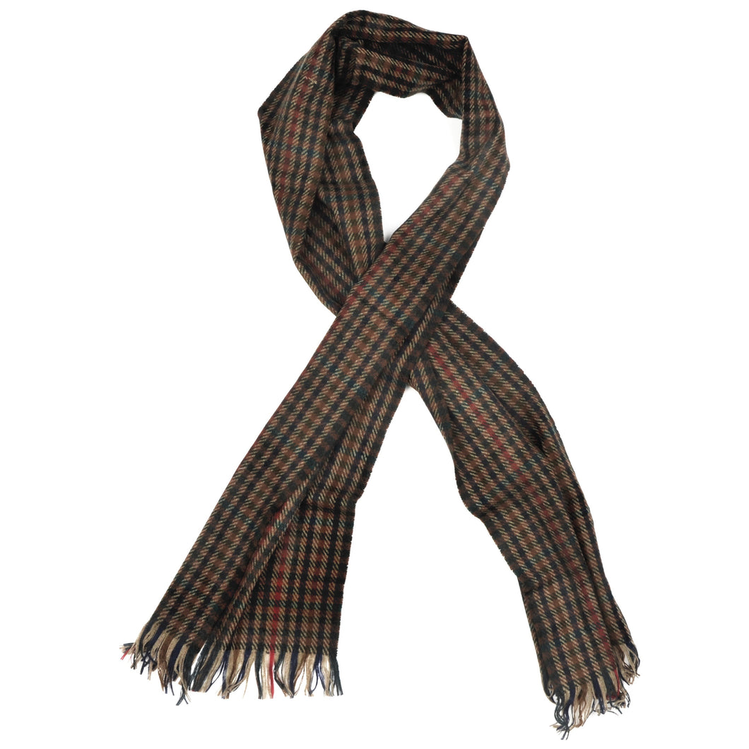 Classic Wool Scarf by DAKS - Plaid